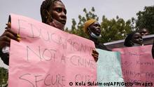 Nigeria Abuja | Proteste | Entführte Studenten
