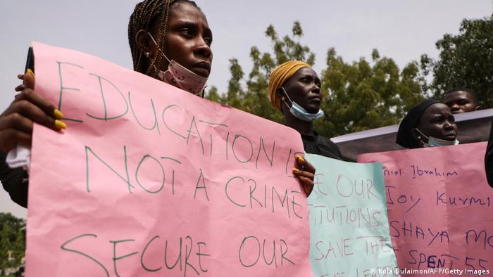 Nigeria Abuja   Proteste   Entführte Studenten