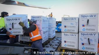 Поставка крупной партии вакцины Спутник V в Аргентину