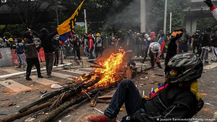 Kolumbien Cali | Demonstranten | Protest gegen Regierung