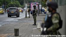 Kolumbien Cali   Soldaten   Protest gegen Regierung