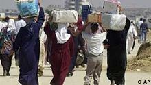 Nahost: Palästinenser zu Fuss unterwegs