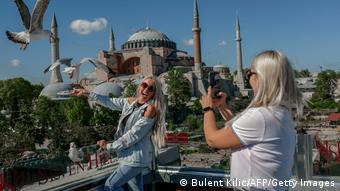 Туристы в Стамбуле