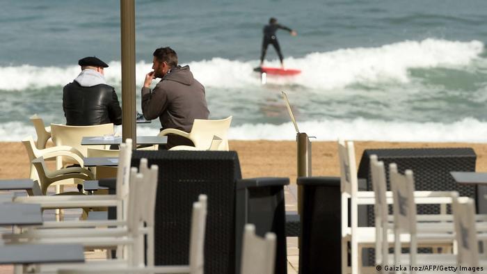 Frankreich | Coronavirus |Strand bei Biarritz