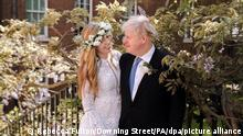 London Hochzeits-Foto Boris Johnson und Carrie Symonds