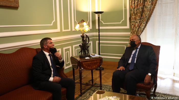 Kairo Israelische Außenminister Gabi Aschkenasi in Ägypten zu Besuch