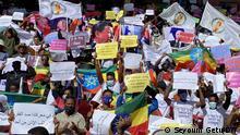 Äthiopien Protest gegen US-Sanktionen Tigray-Krieg