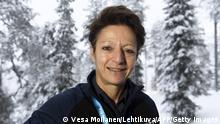 International Ski Federation (FIS) Secretary General Sarah Lewis arrives for a press conference about anti-doping at the FIS World Cup Ruka Nordic event in Kuusamo, Finland, on November 29, 2019. (Photo by Vesa Moilanen / Lehtikuva / AFP) / Finland OUT (Photo by VESA MOILANEN/Lehtikuva/AFP via Getty Images)