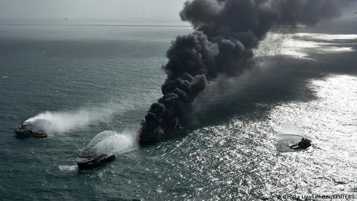 Aufräumarbeiten nach Schiffsunglück MV X-Press Pearl in Sri Lanka