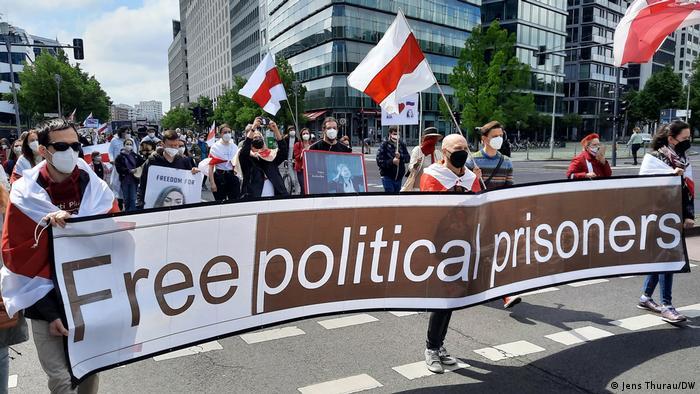 Demonstration gegen Lukaschenko am 29. Mai in Berlin
