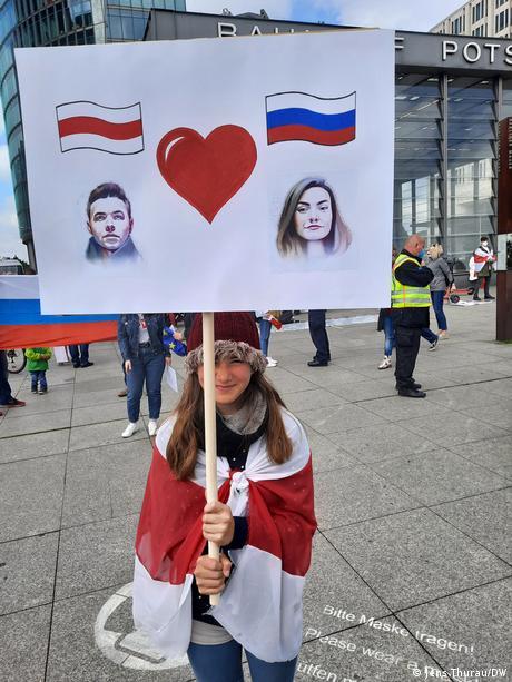 Deutschland Berlin Protest gegen Lukaschenko