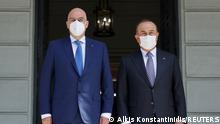 Griechenland Türkei Außenminister Nikos Dendias Mevlut Cavusoglu