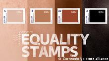 Spanien Equality Stamps Briefmarken Anti-Rassismus