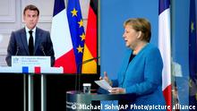 Deutschland Frankreich PK Ministerrat | Merkel und Macron