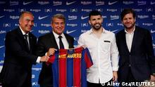 Spanien Sergio Aguero unterschreibt beim FC Barcelona