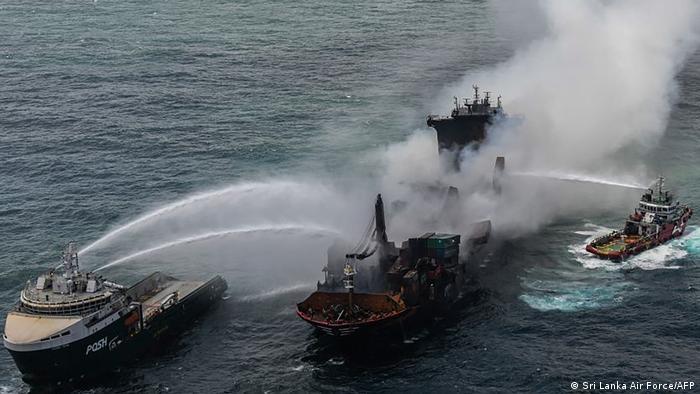 El el desastre ecológico puede agravarse en las costas de Sri Lanka.