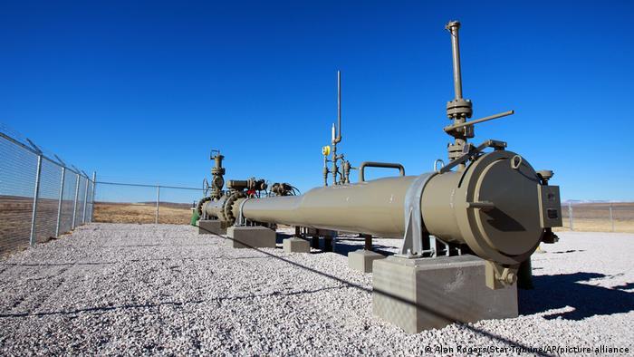 Teil einer Pipeline in Wyoming