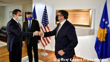 :The Charge d'Affaires of the European Union for the Kosovo-Serbia dialogue Miroslav Lajçak and the US Deputy Assistant Secretary of State Mathew Palmer visite in Pristina Kosovo