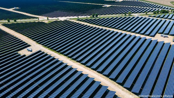 A solar energy park in Germany