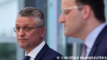 Pressekonferenz RKI Lothar Wieler und Jens Spahn