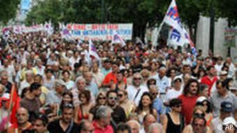 Protestmarsch in Griechenland, Foto:AP Photo/Alkis Konstantinidis)