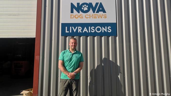 British entrepreneur Antoon Murphy in front of his warehouse