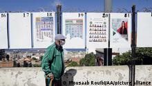 Algerien Kandidaten Plakate Wahlen
