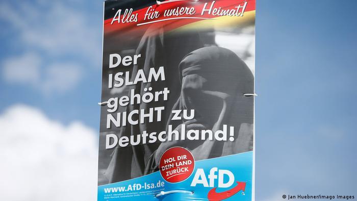 Плакат АдН у Німеччині