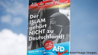 Плакат АдГ Ислам - не часть Германии!