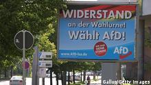 Deutschland | Landtagswahl in Sachsen-Anhalt | Plakate der AfD in Magdeburg