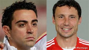 Xavi Hernandez and Mark van Bommel
