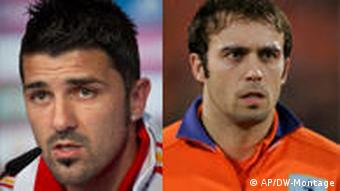 David Villa and Joris Mathijsen