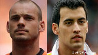 Wesley Sneijder and Sergio Busquets