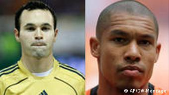 Andres Iniesta and Nigel de Jong