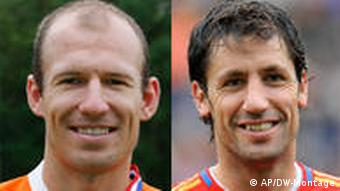 Arjen Robben and Joan Capdevila