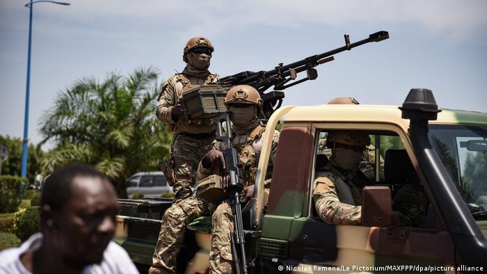 Mali Ankunft Assimi Goita