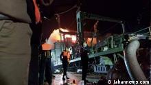 Brand auf einem iranischen Marineschiff