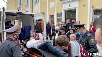 Подсудимого Латыпова отправляют в больницу после попытки самоубийства в суде
