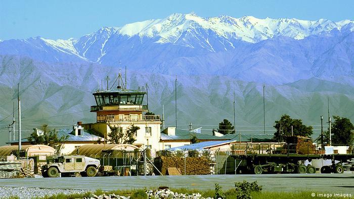 Bagram Air Base at the foot of the Hindu Kush mountains in Afghanistan (2004)
