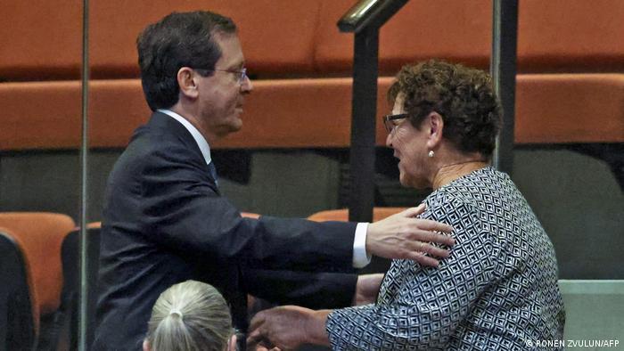 Izchak Herzog und Miriam Peretz