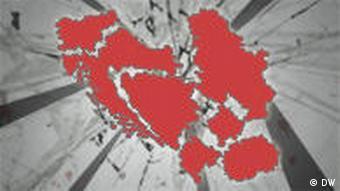 Symbolbild Zerfall Jugoslawien (DW-Grafik: Per Sander)