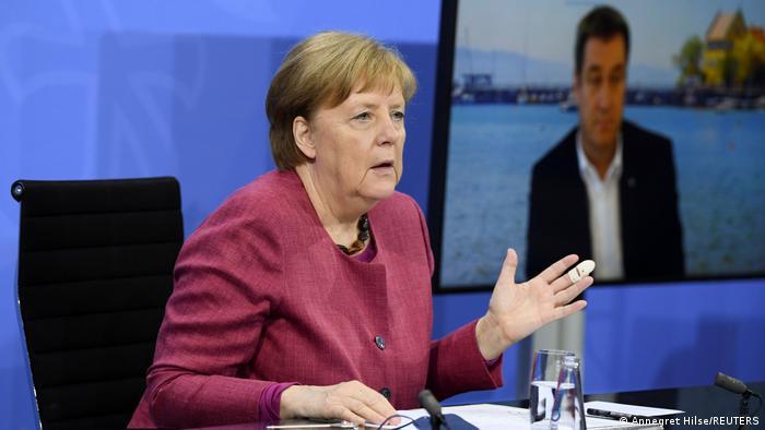 Angela Merkel na video-konferenciji s pokrajinskim premijerima