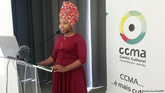 Jovem empreendedora apresenta projeto no evento do Centro Cultural Moçambicano-Alemão