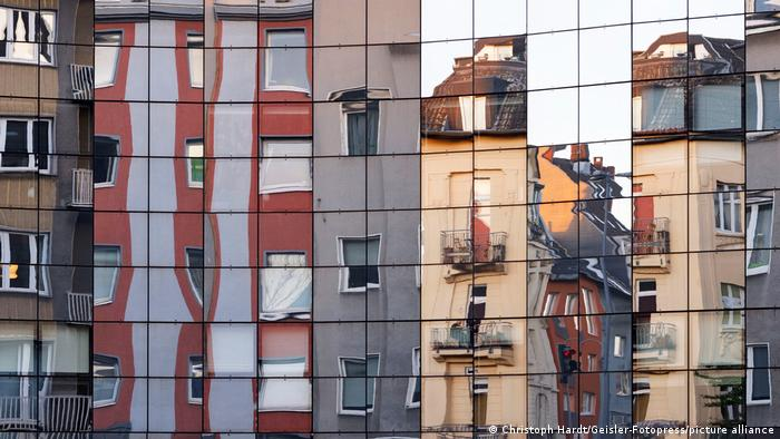Houses in downtown Cologne, Germany