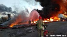 Großbrand in der Teheraner Raffinerie