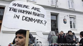 Протесты беженцев в Копенгагене