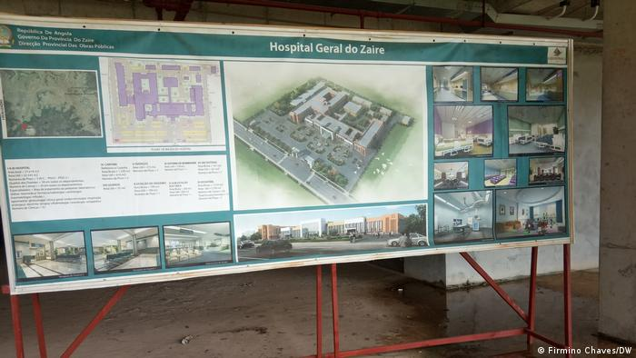Bauplan für das Regionale Krankenhaus von Zaire, in Angola