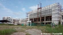 Unvollendete Bauarbeiten des Regionalkrankenhaus von Zaire in Angola