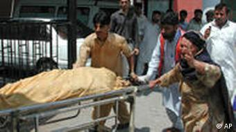 People with severe injuries have been sent to hospitals in neighboring Peshawar