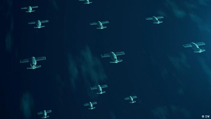 Image showing a number of combat drones in flight